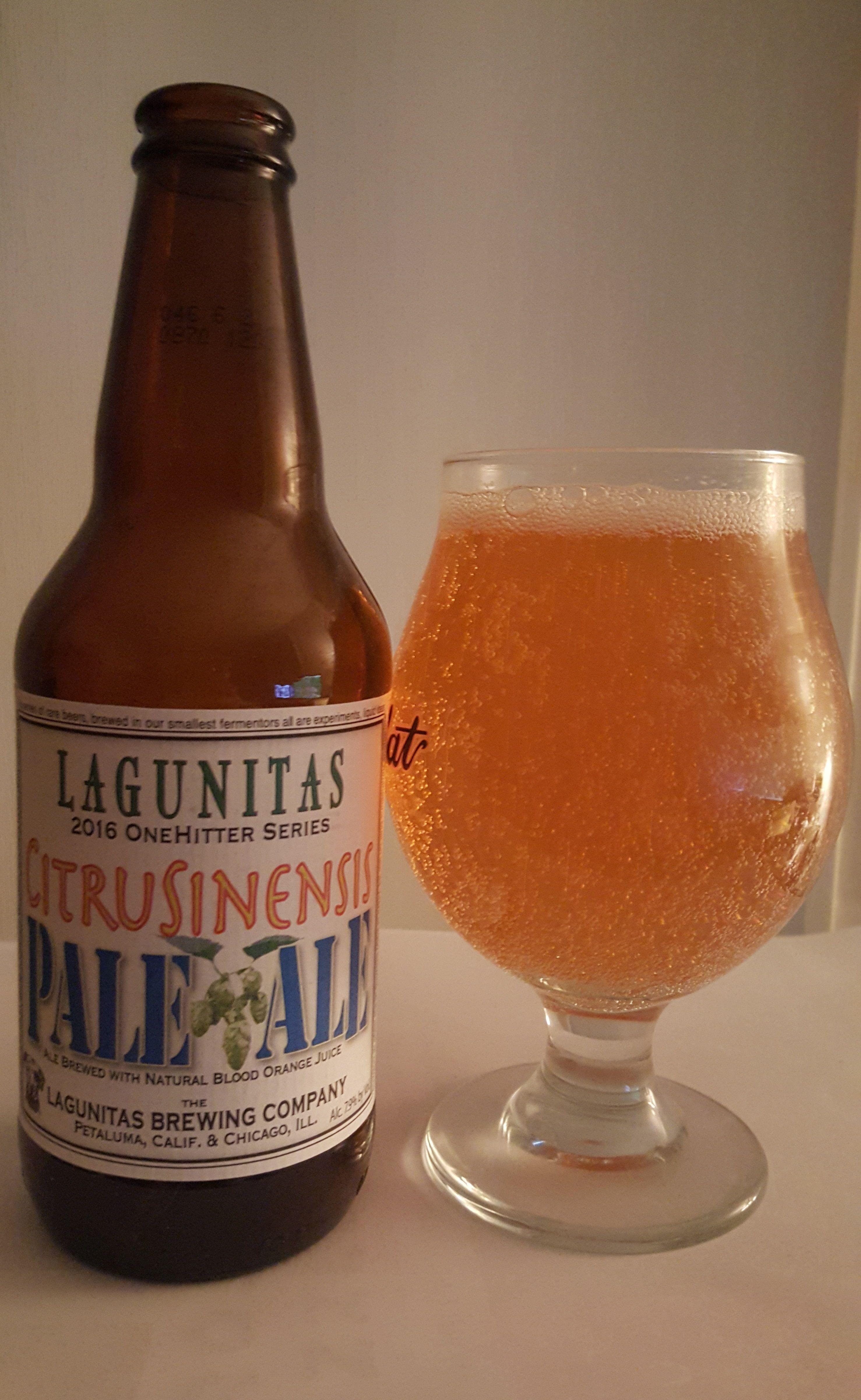 Lagunitas CitruSinensis is a 7 9 ABV 45 IBU APA  The
