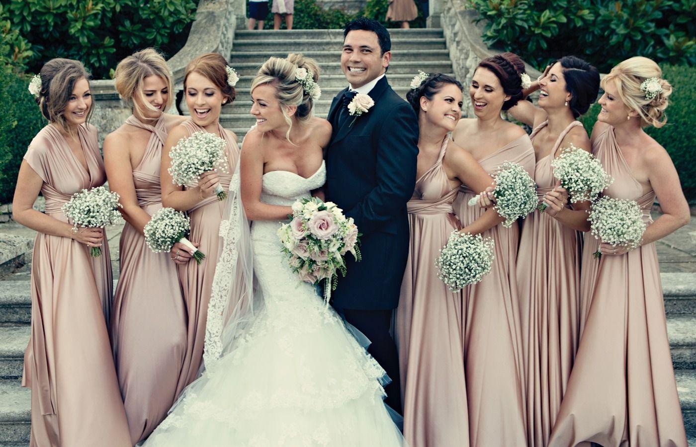 A pretty pink vintage wedding bridesmaid bridesmaid dresses and a pretty pink vintage wedding ombrellifo Images