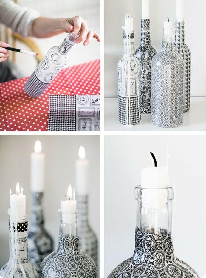 42 upcycling ideen f r diy lampen aus glasflaschen basteln pinterest flaschen glas und. Black Bedroom Furniture Sets. Home Design Ideas