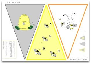 Honey Bee Party Decorations A Free Fun DIY Birthday Theme Print Cut And Fold Cute Sweet PartyLots Of Stuff To Do With These Easy
