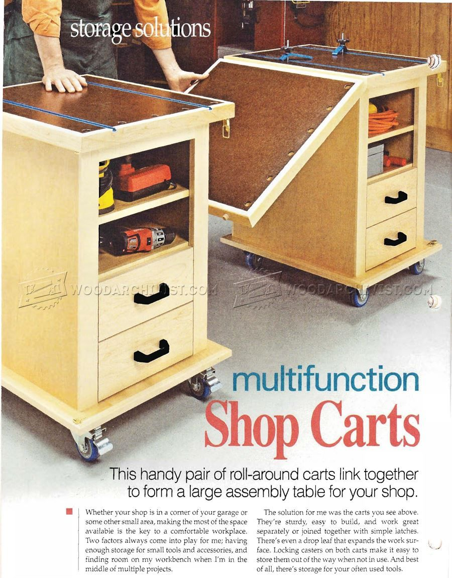 17 multifunction workshop carts plans - workshop solutions