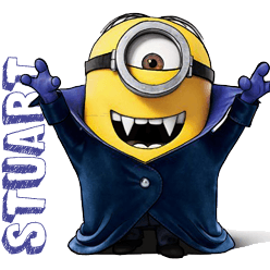 How To Draw Stuart As A Vampire From Minions Movie 2015