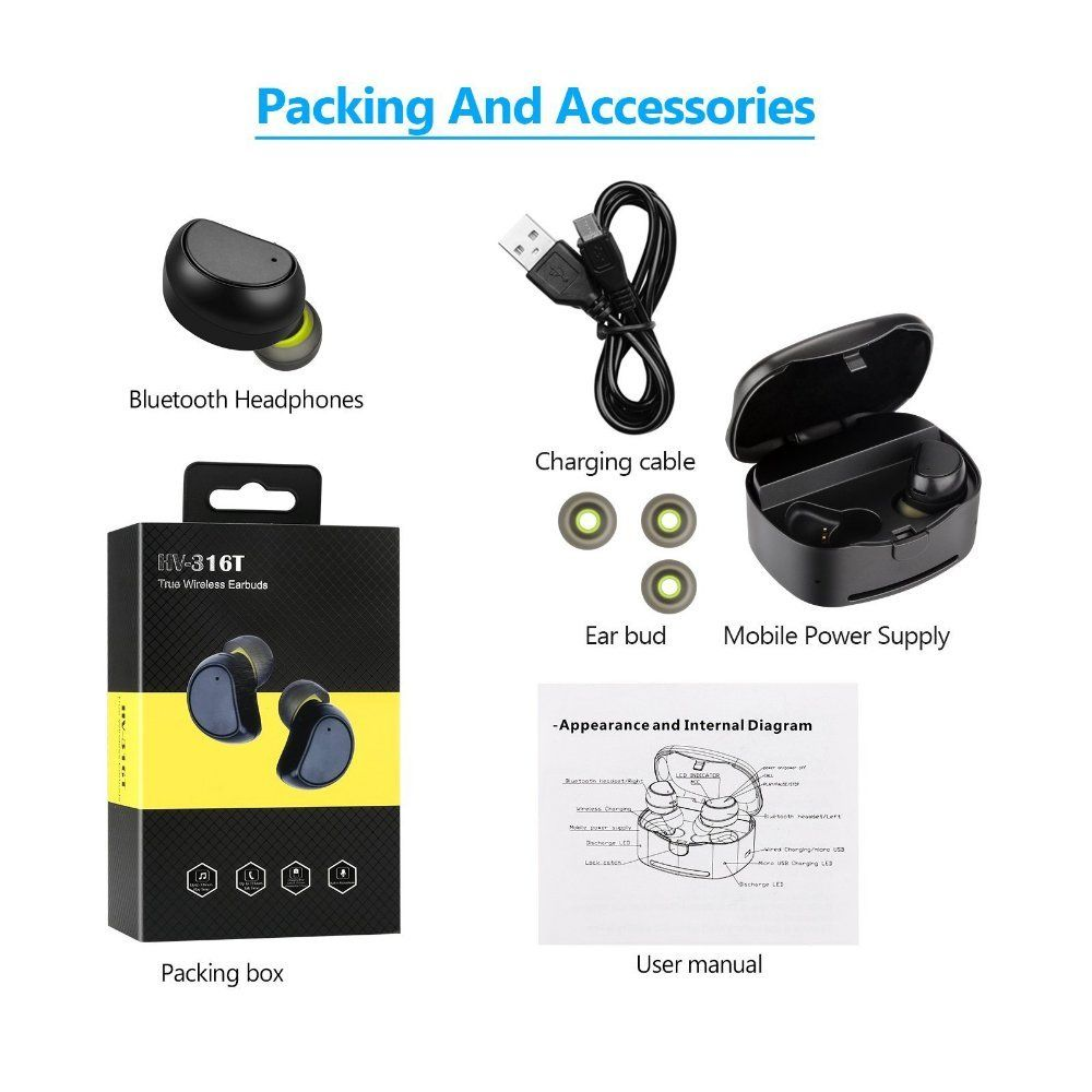 medium resolution of star fire wireless earbudstruly bluetooth earphones with charging box noise cancelling sweatproof mini bluetooth headphones for