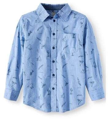 1eeb459ec Wonder Nation Long Sleeve Woven Shirts (Little Boys & Big Boys ...