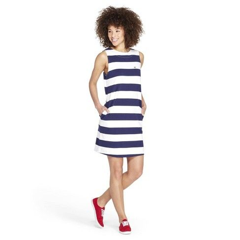 8b20eb1a Women's Striped Sleeveless Crewneck Knit Dress - Navy/White S - Vineyard  Vines® For