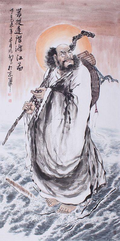 2019 的 Modern art famous artists Bodhidharma Chinese ink