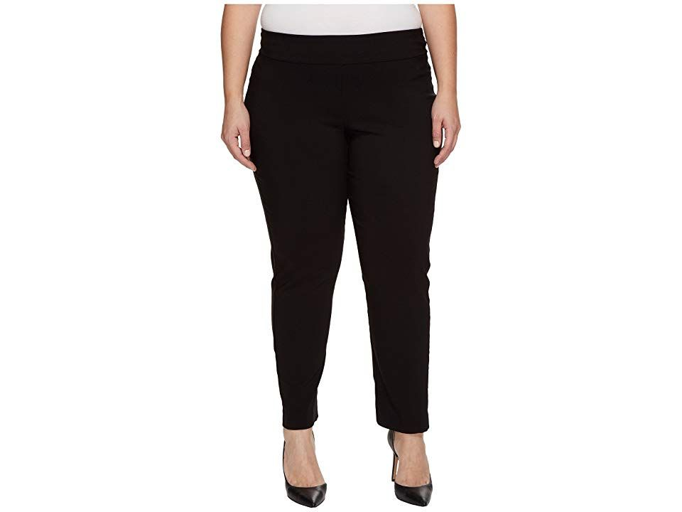 Krazy Larry Plus Size PullOn Ankle Pants Black Womens Dress Pants Every woman deserves to wear clothes that offer fashion forward style with comfort in mind KRAZY LARRY p...