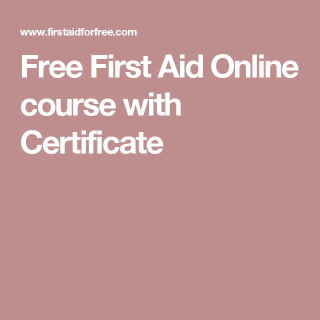 free first aid online course with certificate | shop til drop ...