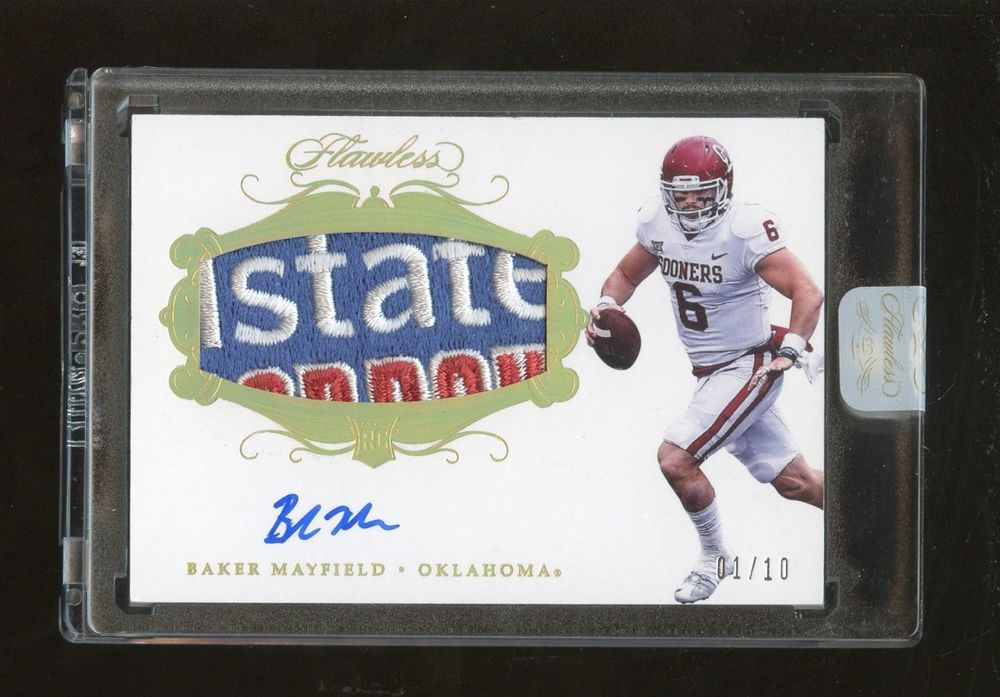 2018 Panini Flawless Gold Baker Mayfield RC Collegiate
