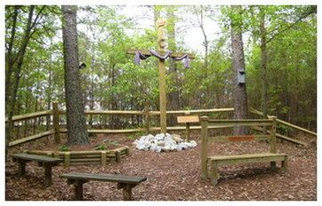 Amid The Noise From The Traffic On Belair Road, One Can Find Solitude And  Tranquility In The Marvin United Methodist Prayer Garden In The Woods  Behind The ...