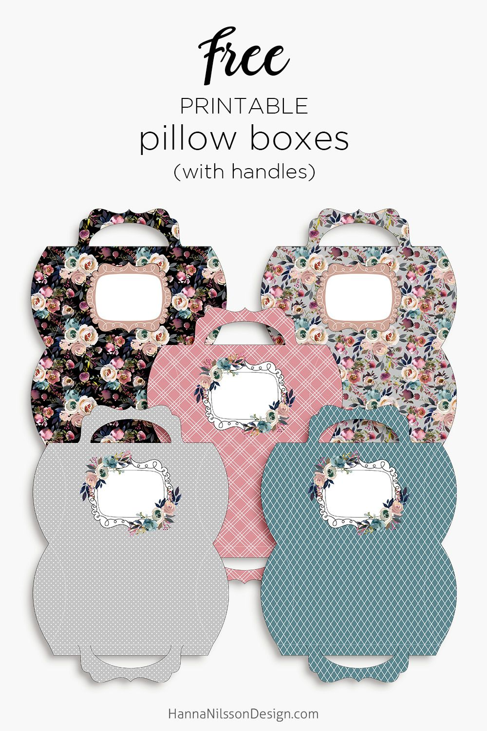 floral pillow boxes with handle