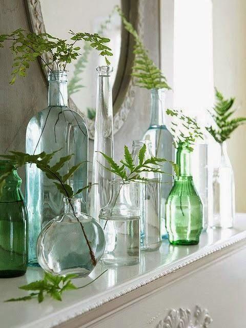Reutilizamos Tarros Y Botellas De Cristal Para Decorar Frascos De Cristal Florero De Vidrio Floreros