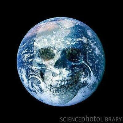 Skull Earth Earth From Space Blue Marble Earth