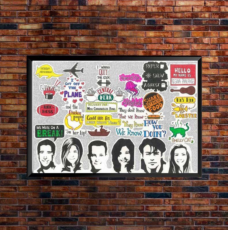 Friends TV Show Sketch Poster Art Puppet