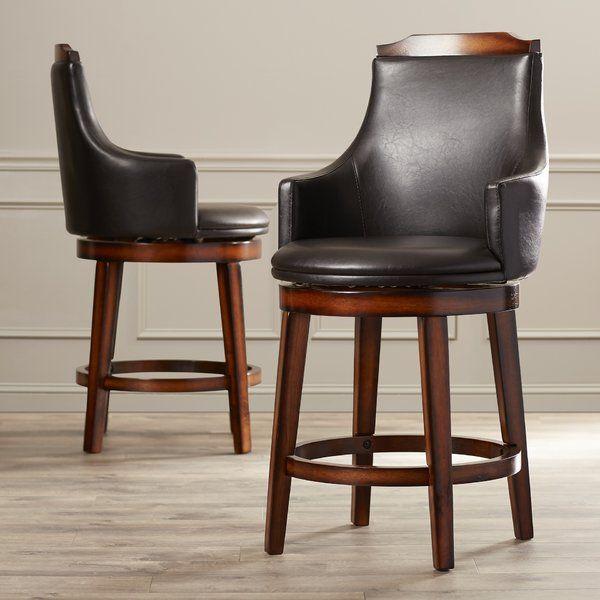 Allenville Bar & Counter Swivel Stool   Comfortable bar stools