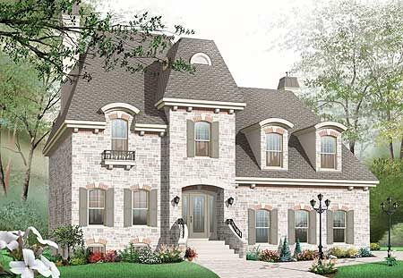 Plan 21887dr Roomy Home Plan With Mansard Roof Victorian House Plans Shingle House Plans Craftsman Style House Plans