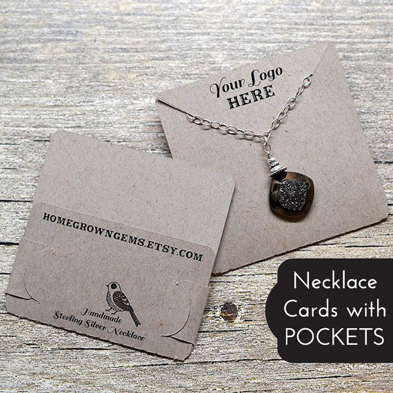 Customized Pocket Fold Necklace Cards Holds Chain Jewelry Etsy Jewelry Display Cards Necklace Display Jewelry Packaging