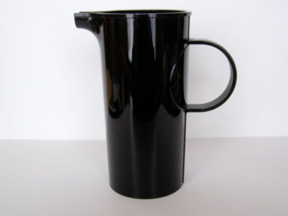 Dansk Gunnar Cyren Black 2-Quart Pitcher 1970s by ScrivoVivo