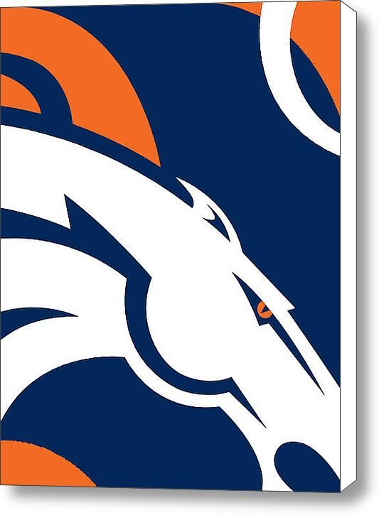 Denver Broncos Football Stretched Canvas Print / Canvas Art By Tony ...