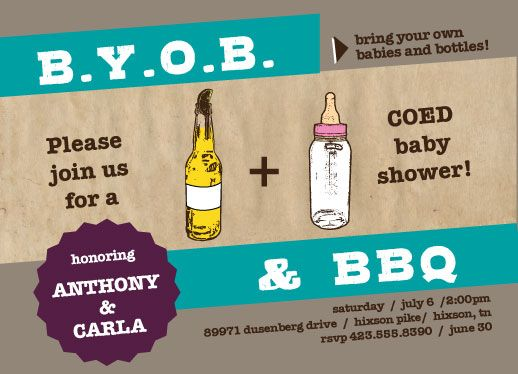 Bbq Baby Shower Ideas Baby Shower Invitations Babies And Bottles