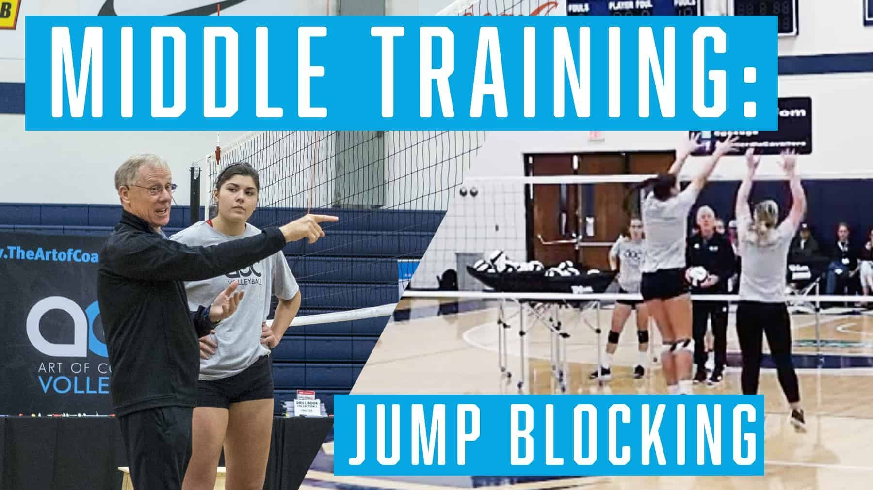 Middle Training Jump Blocking With Images Coaching Volleyball Stanford University Train