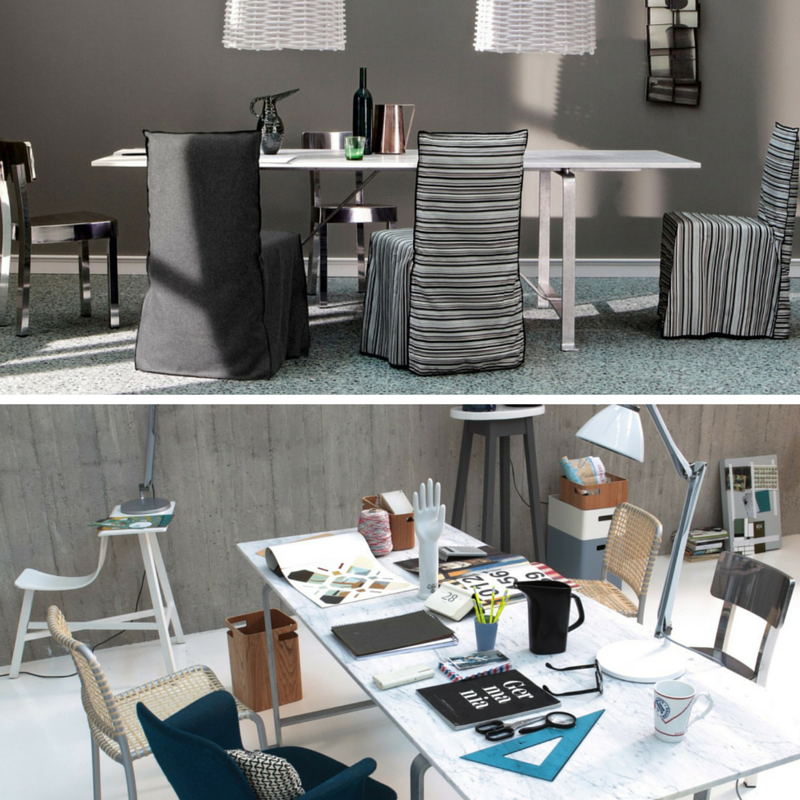 Desk to Dinner Office desk by day, dining table by night! SHOP Gervasoni table online: http://www.internistore.com/table/we-37-zn.product #Gervasoni #Italy #PaolaNavone #designertable #desk #dinningtable #versatile #furniture #decorationideas #style #modern #interior #homeoffice #dinningroom