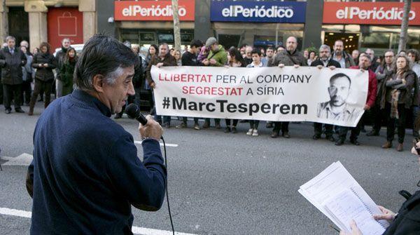 Movilización para exigir la liberación de Marc Marginedas, secuestrado en Siria desde septiembre El periodista Gervasio Sánchez ha anunciado la creación de un comité para ayudar a los tres profesionales retenidos por grupos yihadistas