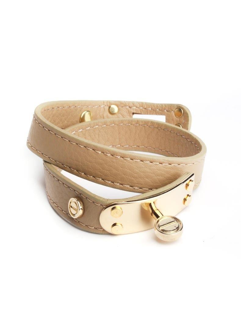 Leather Turnlock Bracelet $24.60!