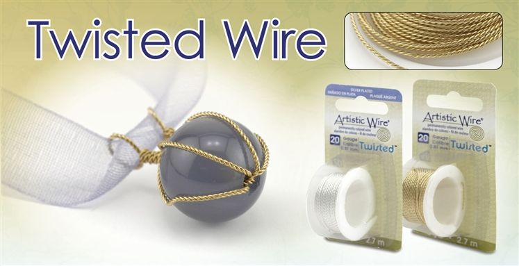 Twisted Artistic Wire gives dimension to jewelry and craft projects ...