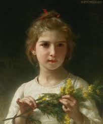 "Bouguereau's ""Mimosa (The Mimosa Flower)"", 1899 -"
