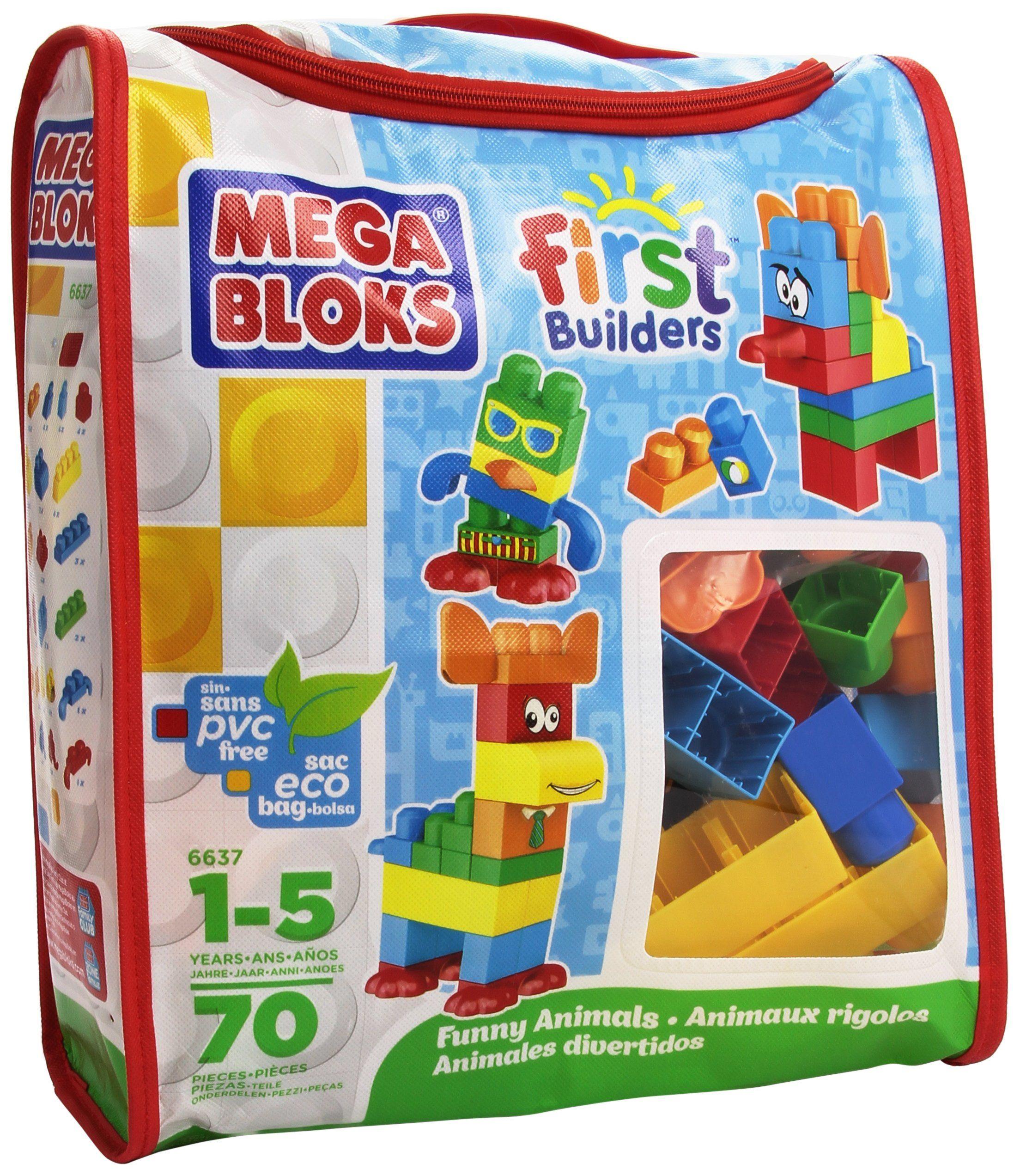 Mega Bloks First Builders Funny Animals Bag