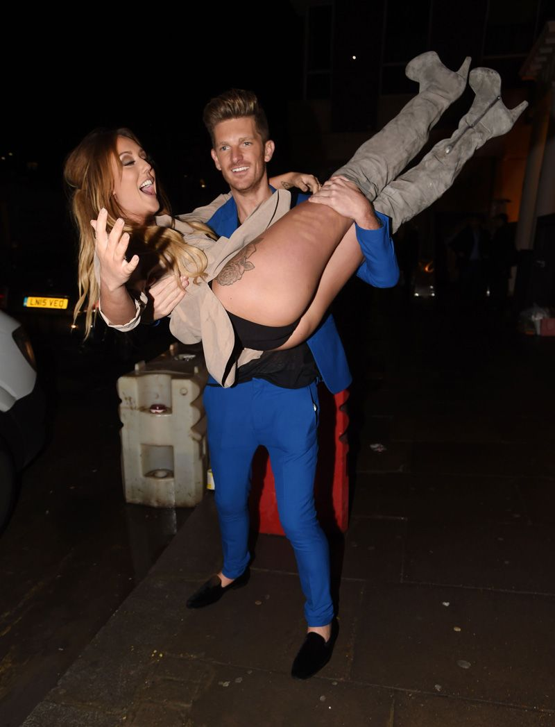 Charlotte Crosby Upskirt After The Bar On Taxidrivermovie Com