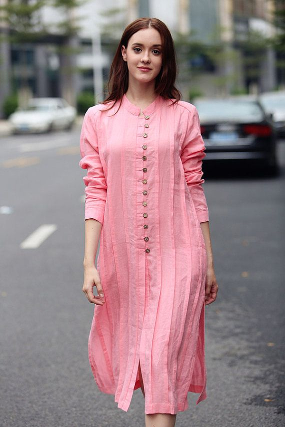6a18692251f Pink linen shirt with pleats formal shirtoversized by camelliatune also  pintrest dixna deol saritha in pinterest