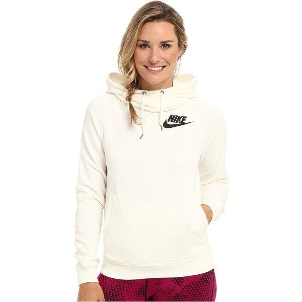 b7ba44f43 Nike Rally Funnel Neck Hoodie Women's Sweatshirt, Multi featuring polyvore,  fashion, clothing, tops, hoodies, multi, white hoodie, hoodie sweatshirts,  ...