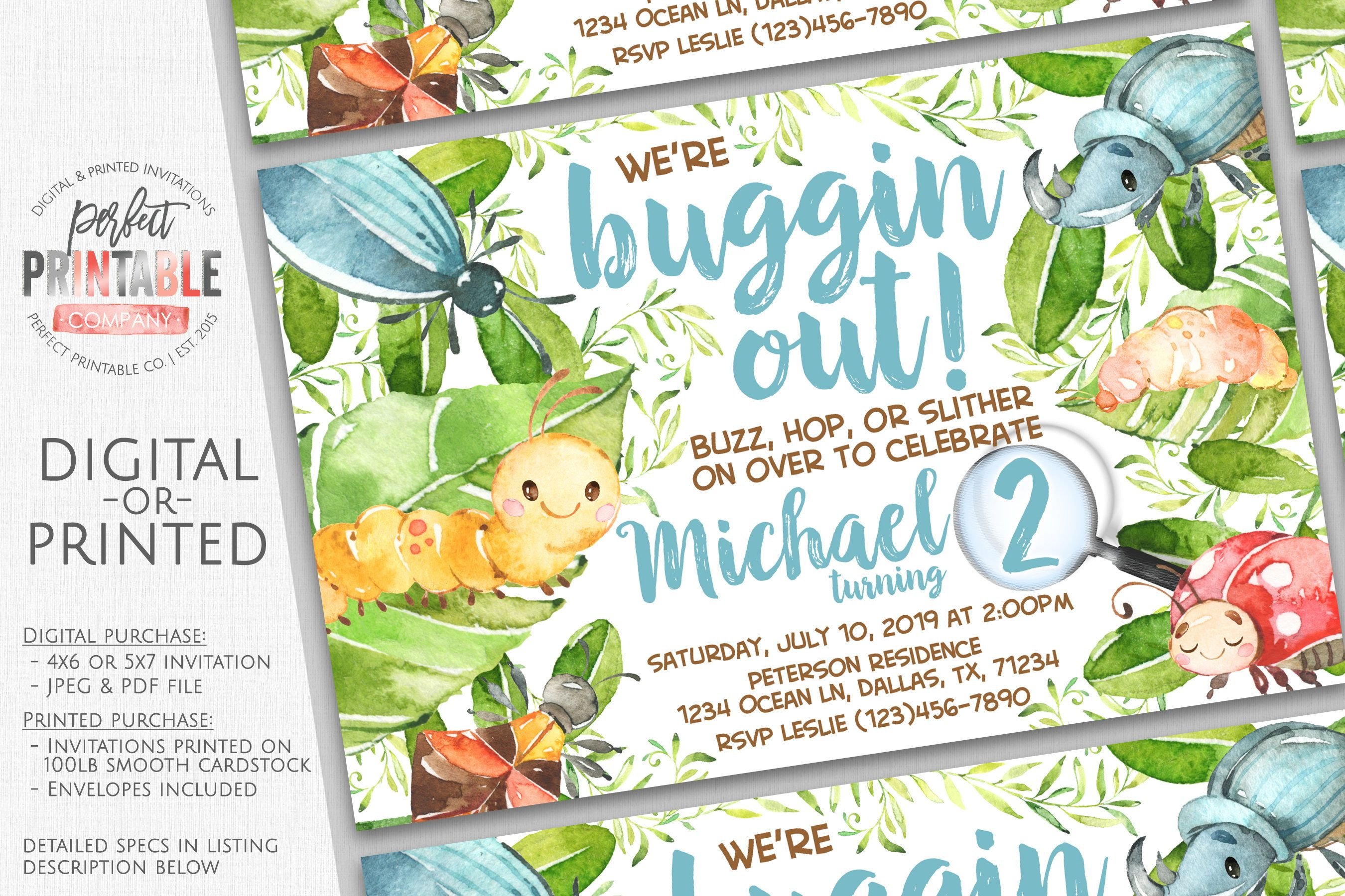 insect invitation bug invitation