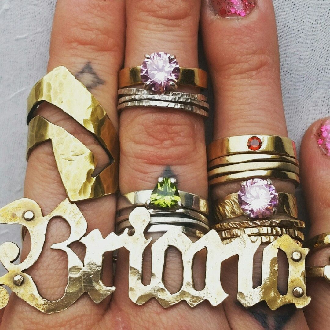 name nikfine personalized plate nameplate rings finger two gp