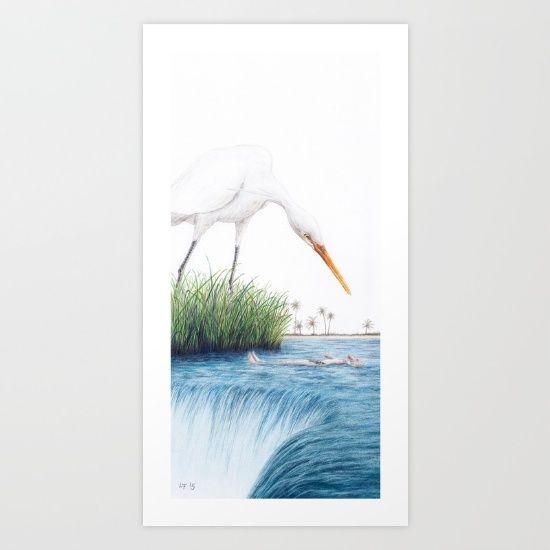Driftwood by Lars Furtwaengler   Colored Pencil   2015 Art Print