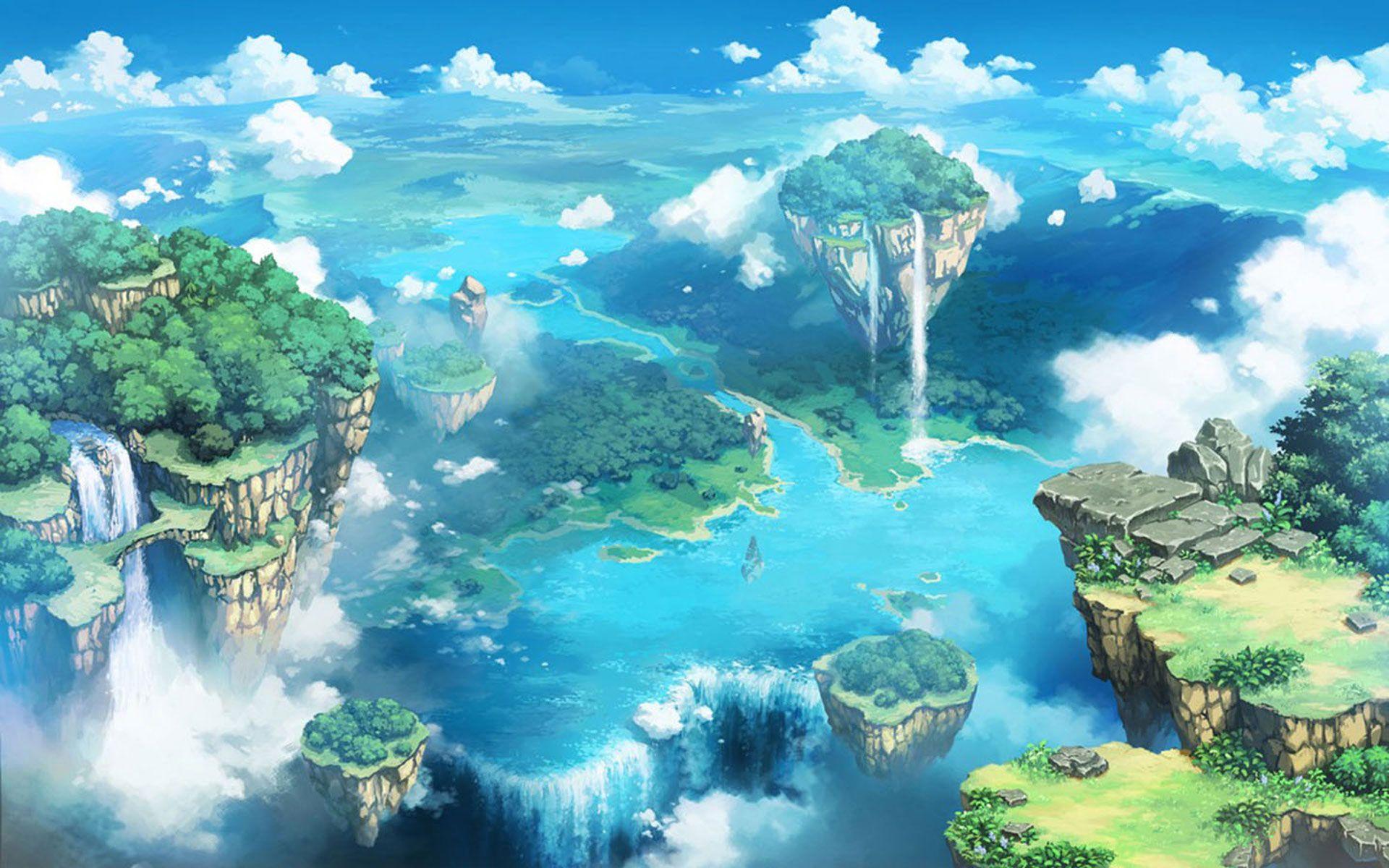 sky anime Tìm với Google Phong cảnh, Kỳ ảo, Hình ảnh