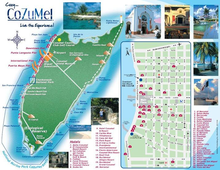 Printable Maps Of Cozumel Attractions The Entire Island Of