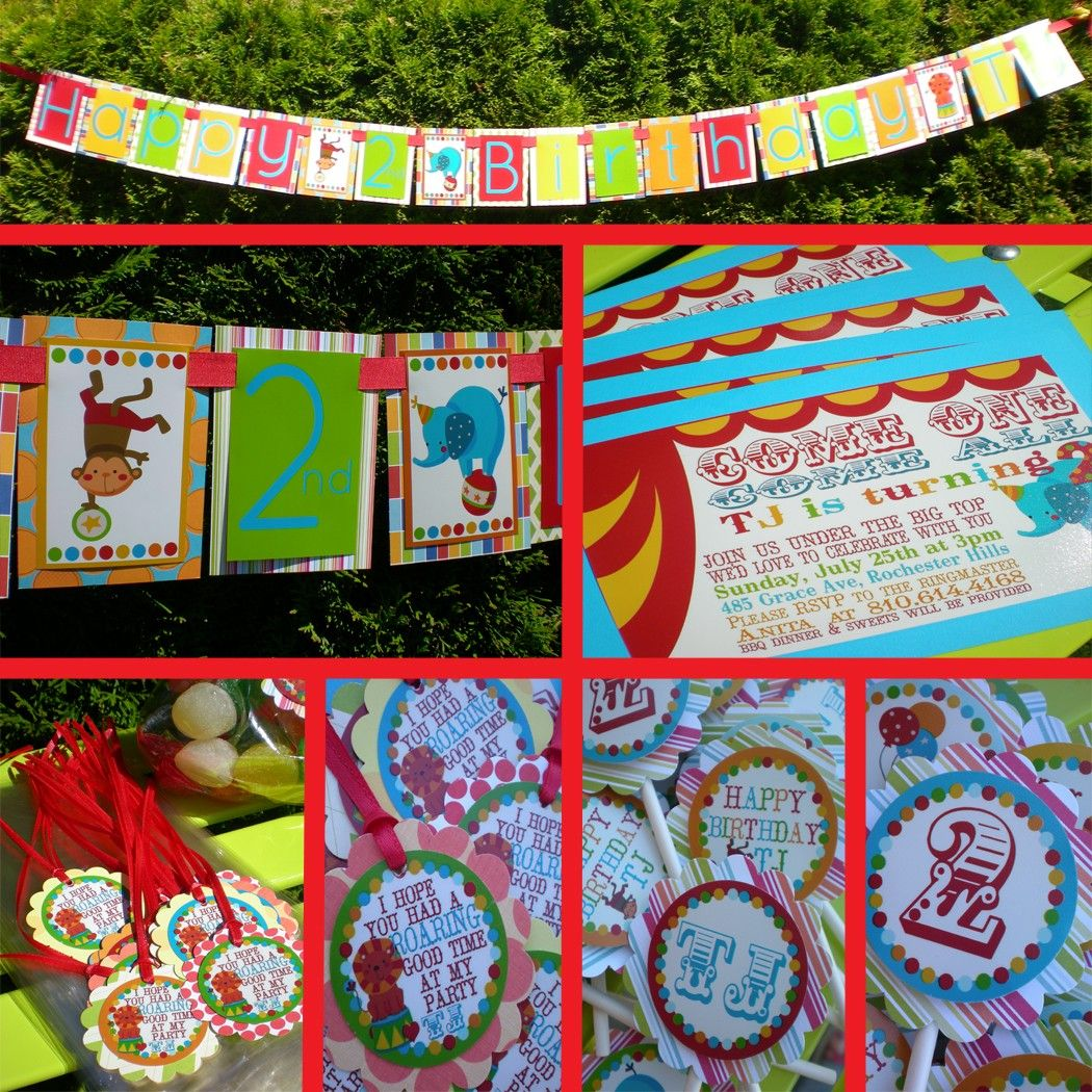 handmade circus birthday banner 35 00 via etsy birthday