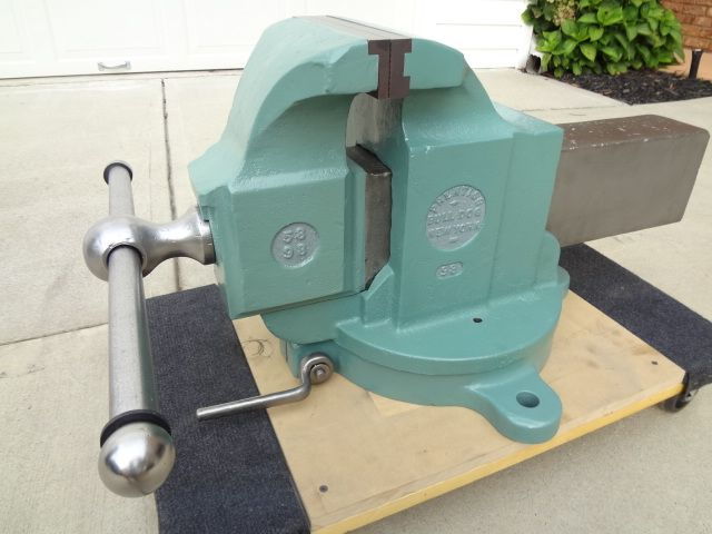 Here Is A Prentiss 98 Has 8 1 2 Custom Made Jaws This Is A Big Vise Nice Job Kenny Vise Bench Vise Vises