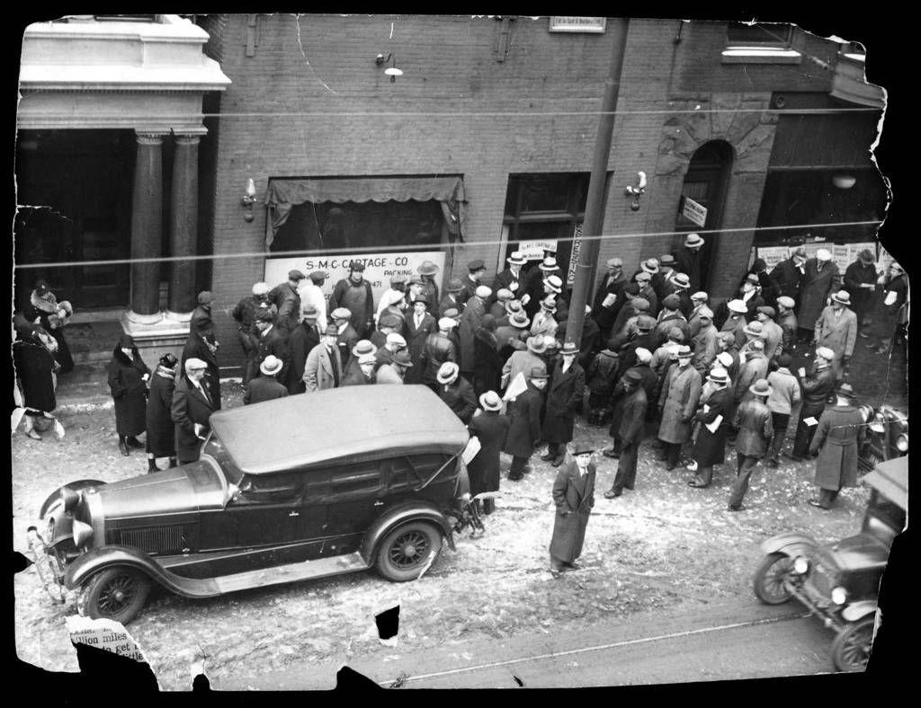 best images about al capone auction bugs moran a crowd outside the north clark street garage owned by george bugs moran