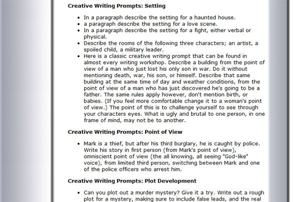 6 Places You Can Find Great Creative Writing Prompts Creative - resume third person