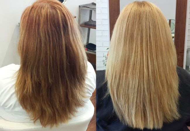 I Did It Going From Red To Blond With Olaplex How To Lighten Hair Lighten Hair Naturally Lighten Hair With Honey