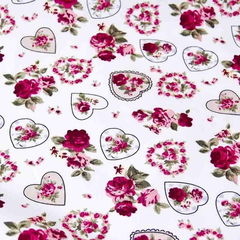 Hearts and Roses Cream 112cm