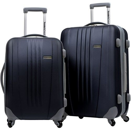 1a5f2e55f Traveler's Choice Toronto 25' and 21' Expandable Spinner Luggage Set,  Multiple Colors, Black
