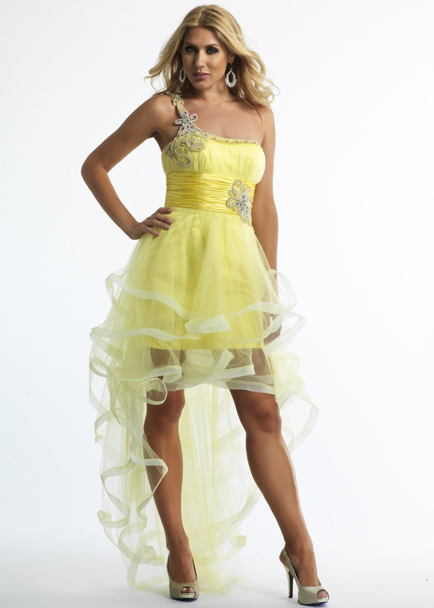 Dave & Johnny Prom Dresses   Yellow homecoming dresses ...