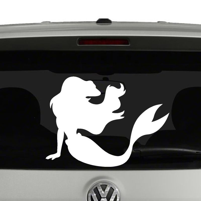 Ariel Little Mermaid Silhouette Vinyl Decal Sticker Silhouette - Mermaid custom vinyl decals for car