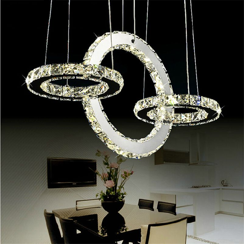 Hot sale Diamond Ring LED Crystal Chandelier