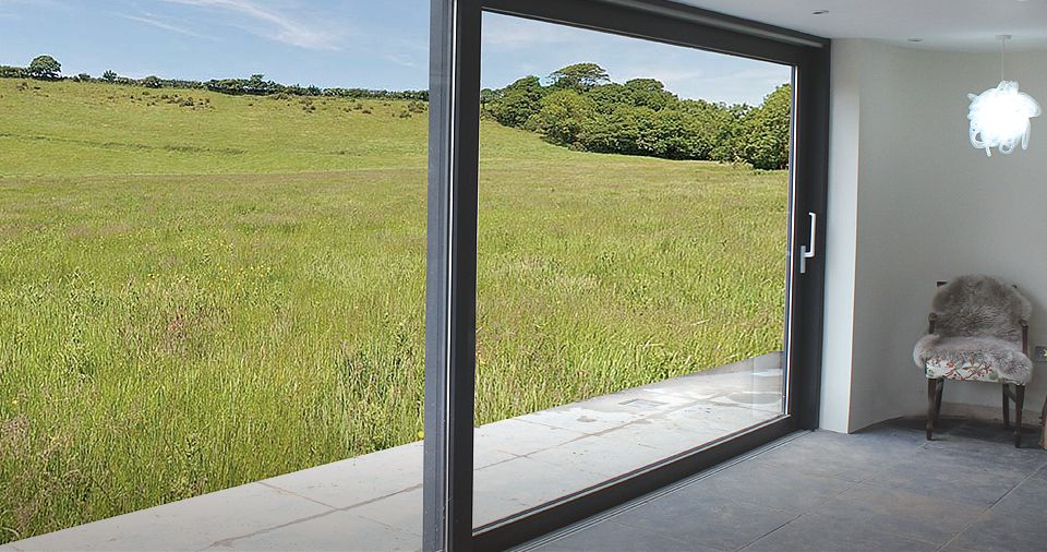 Large sliding glass door 2 panels google search for Black sliding glass doors